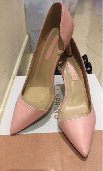 Used Paprika light pink heels unused in Dubai, UAE