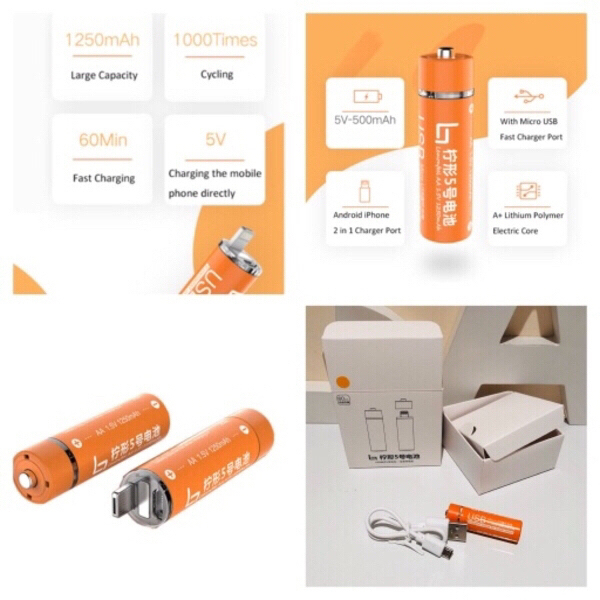 Used 2 in 1 AA Battery power bank in Dubai, UAE
