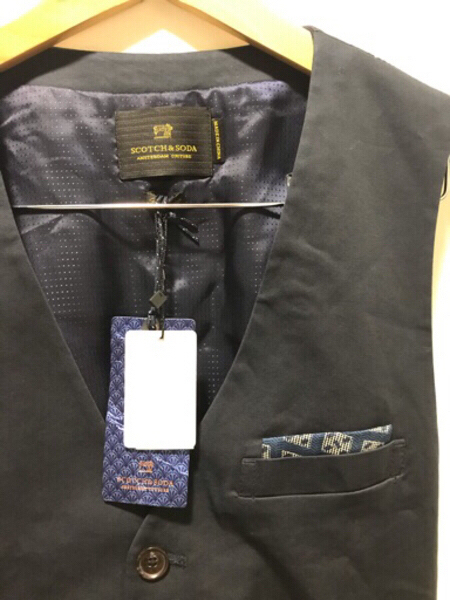 Used NEW Scotch  Soda Vest Size M Dark Blue in Dubai, UAE