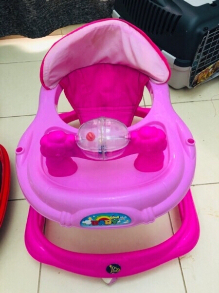 Used BABY WALKER WITH FREE POTTY TRAINER in Dubai, UAE