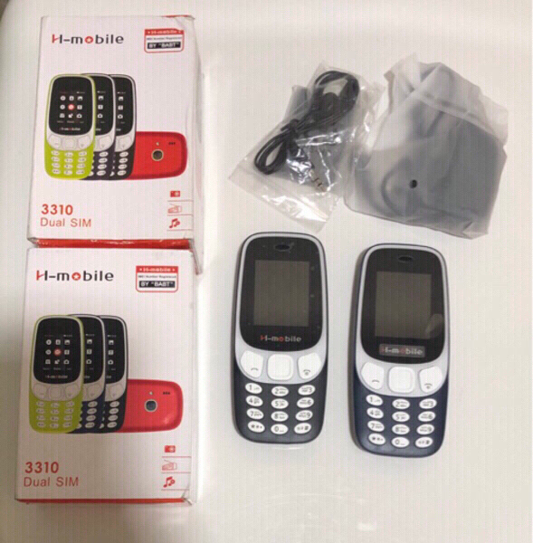 Used 2 phones brand new H mobile 3310 DualSim in Dubai, UAE