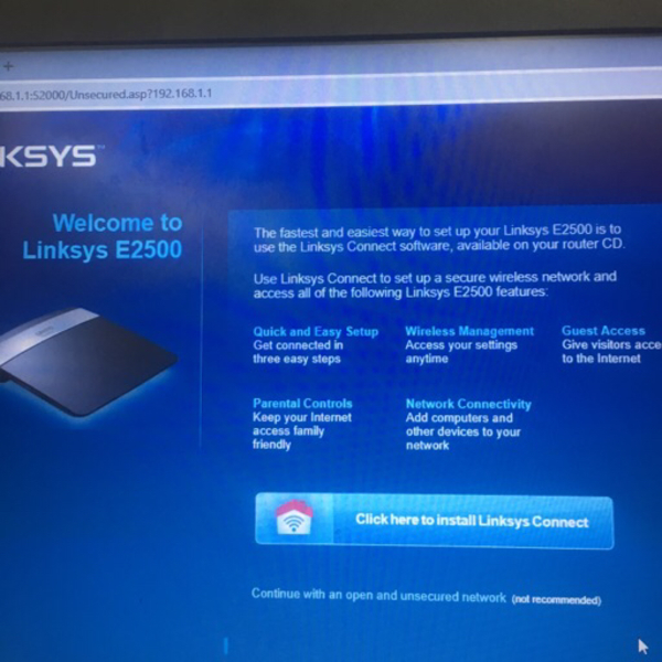 Used Linksys E2500 dual band router in Dubai, UAE