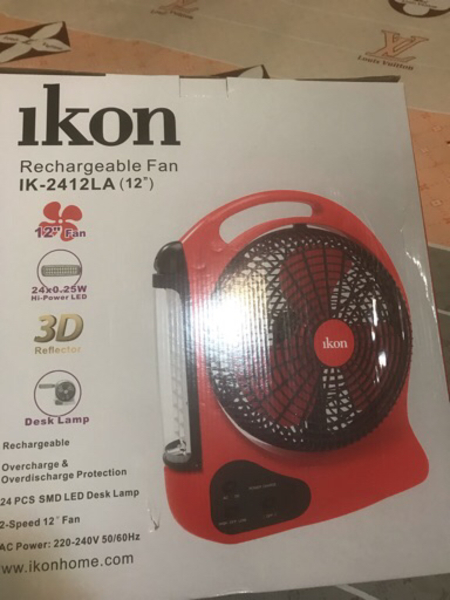 Used New Original 12 inches Rechargeable Fan in Dubai, UAE