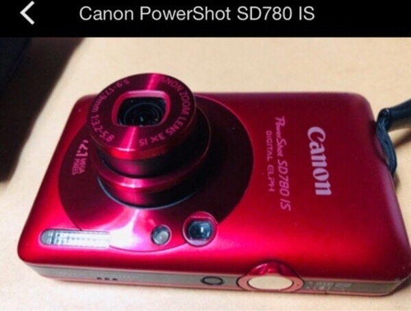 Used CANON POWER SHOT ( SD780 IS ) RED ELPH in Dubai, UAE
