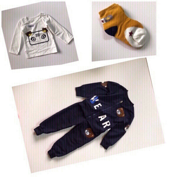 Used Baby suit +T-shirt +socks size 90 cm in Dubai, UAE