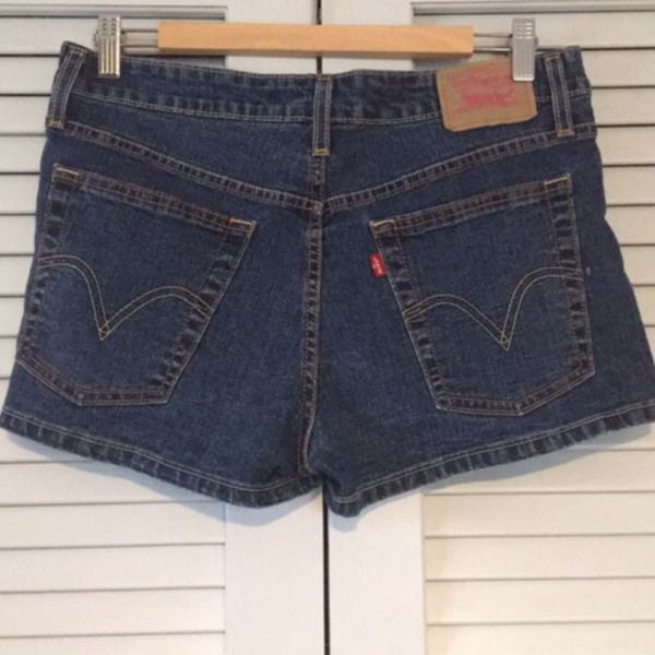 Used Levi's 518 Superlow denim shorts in Dubai, UAE