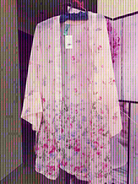 Used Floral pinkish Chiffon Kaftan CLEARANCE in Dubai, UAE