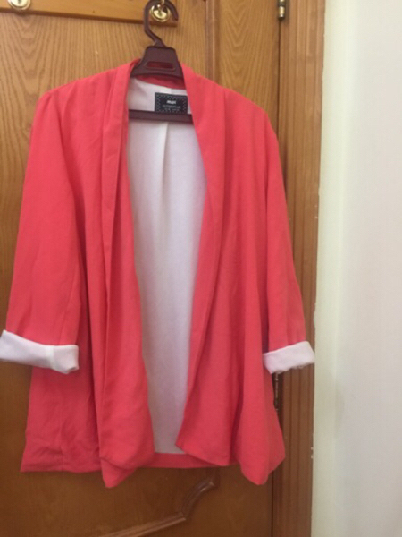 Used Orange long blazer  in Dubai, UAE