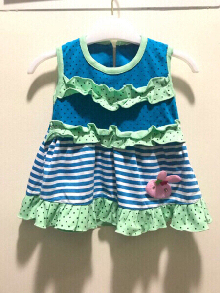 Used Preloved Girl Dress 6 to 12 months Blue' in Dubai, UAE