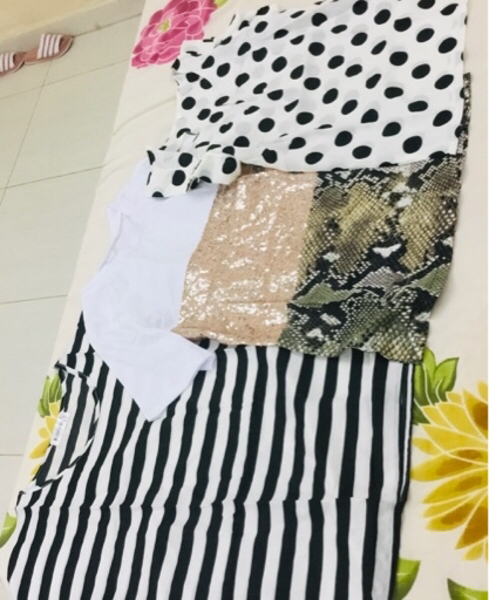 Used 4for 1 Brand New ladies top + Bra sizeM in Dubai, UAE