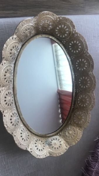 Used Brass mirror decorative tray in Dubai, UAE