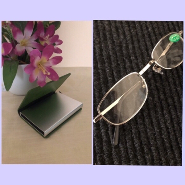 Used NEW Card Holder + Reading Glasses in Dubai, UAE