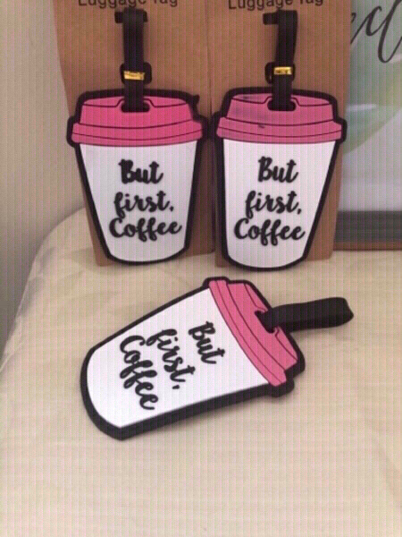 Used NEW✨Coffee Cup Luggage Tags 3pcs. in Dubai, UAE