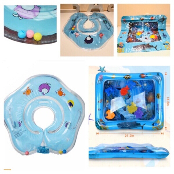 Used Baby inflatable play mat & neck float in Dubai, UAE