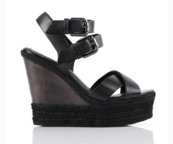 Used New All Saints leather wedges, size 37. in Dubai, UAE