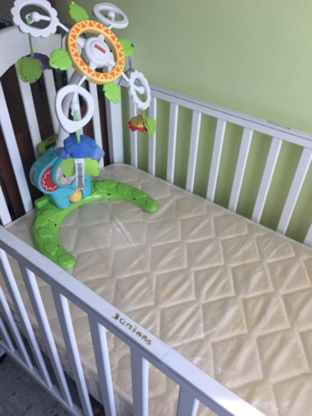 Used Baby bed for urgent sale with mattress. in Dubai, UAE
