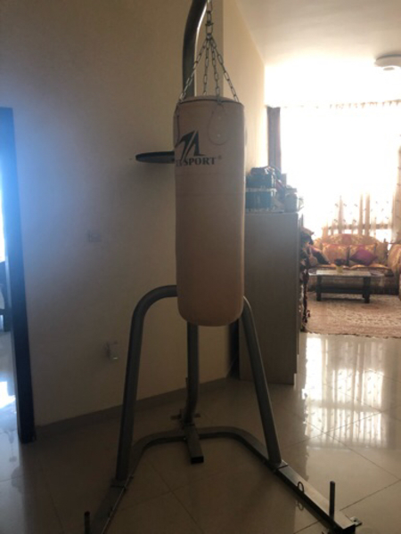 Used boxing bag + stand  in Dubai, UAE