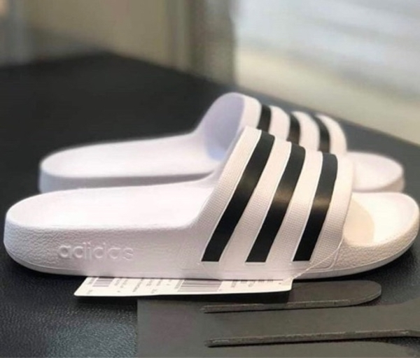 Used Authentic Adidas slides from store in Dubai, UAE