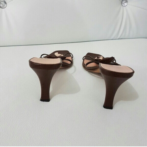 Used Original Prada Leather Heel Mules👡 in Dubai, UAE