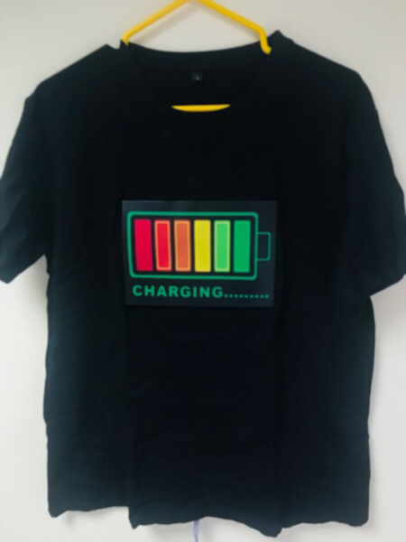 Used LED lights voice Activated T-ShirtXL New in Dubai, UAE