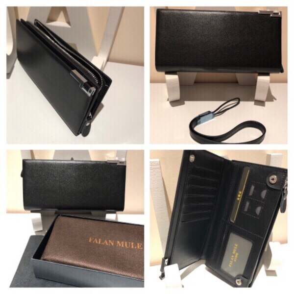 Used FALAN MULE black wallet with box new  in Dubai, UAE