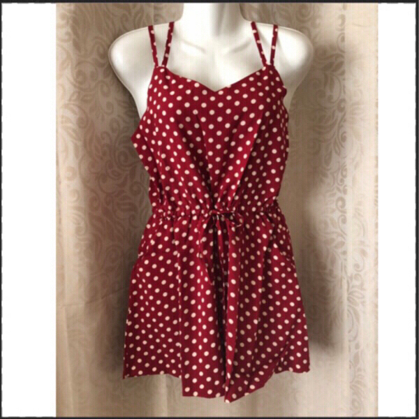 Used Polka dots jumpsuit L+free lip color in Dubai, UAE