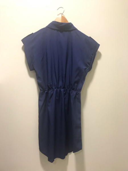 Used New Blue Dress with Brown Belt Size S in Dubai, UAE
