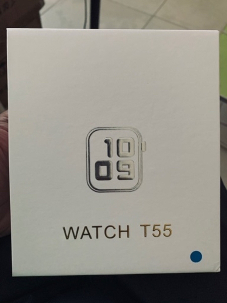 Used T55 smart watch with calling blue black in Dubai, UAE