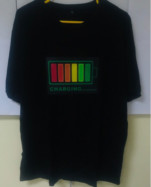 Used LED lights voice-activatedT-Shirt -New L in Dubai, UAE