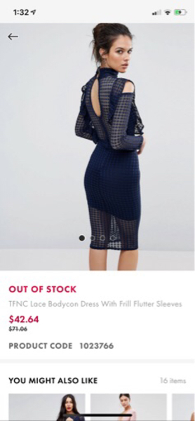 Used Navy blue, lace bodycon dress, size S in Dubai, UAE