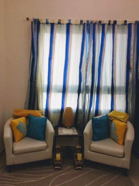 Used Set of Curtains with lining in Dubai, UAE