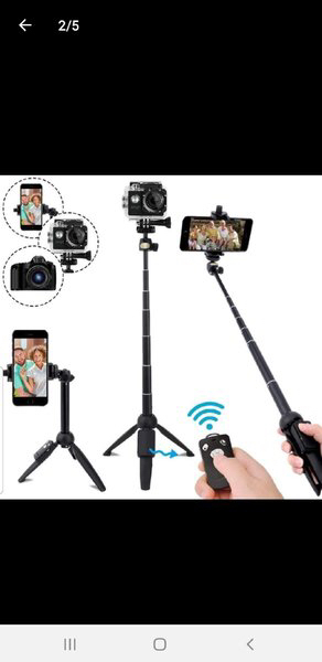 Used Selfie Stick with stand in one ♥️... in Dubai, UAE