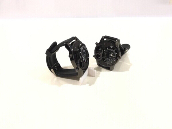 Used NEW 2 Pcs Quartz Watches Big Size Black in Dubai, UAE