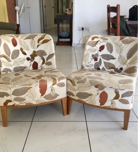 Used Patterned Sofa Chairs✨ (x2) in Dubai, UAE