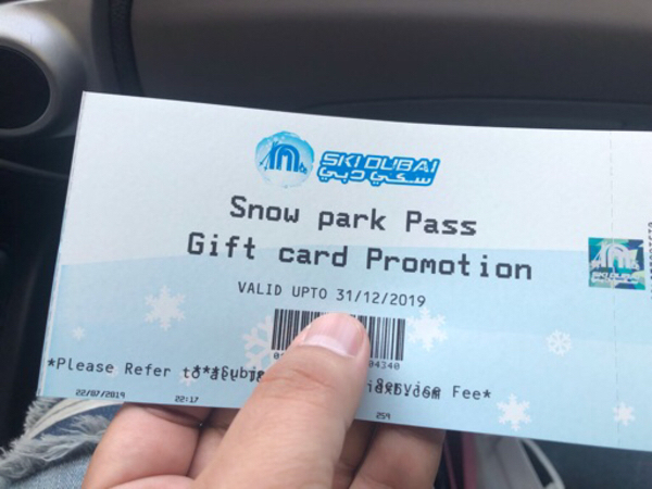 Used Ski Dubai Snow Park passes in Dubai, UAE