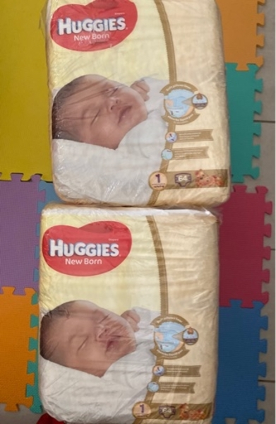 Used Newbor huggies in Dubai, UAE