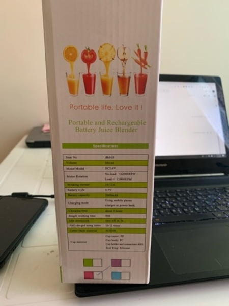 Used Brand new portable juicer with 4 blades in Dubai, UAE