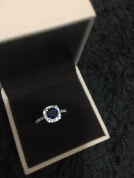 Used Artificial 18k white gold plated ring in Dubai, UAE