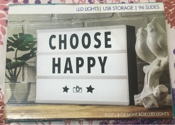 "Used Choose Happy 11.75""x8.75"" light box in Dubai, UAE"