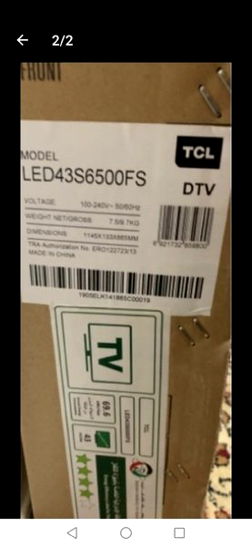 Used Brand new TCL new model tv 1 month old in Dubai, UAE