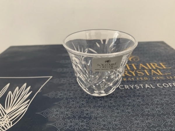 Used Solitaire crystal coffee cups set in Dubai, UAE