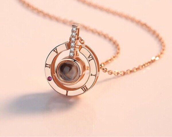 Used Hidden Message Necklace Rose Gold  in Dubai, UAE