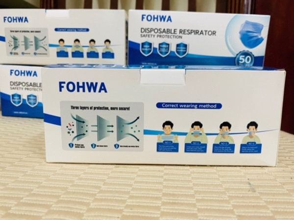 Used SPECIAL OFFER 4 BOX 3 PLY MASK 32 AED/- in Dubai, UAE