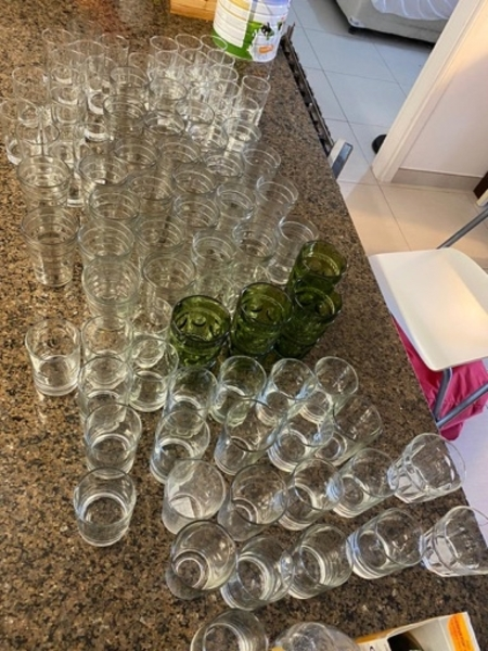 Used 75pcs glass for function and hotels in Dubai, UAE