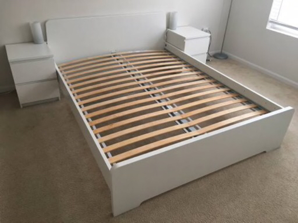 Used Bed for sale 160*200. ikea in Dubai, UAE