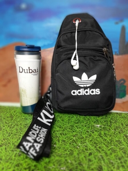 Used Adidas Chest Bag Full Black in Dubai, UAE