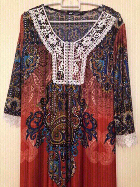 Used NEW Long Dress with Belt 2XL in Dubai, UAE