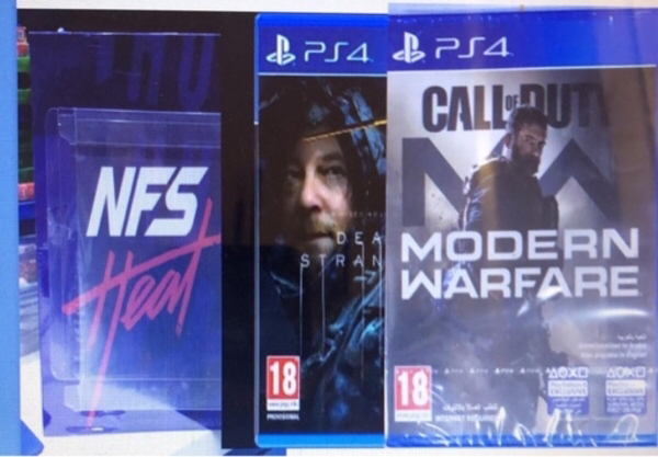 Used PS4 NFS, Death Standing, COD MW in Dubai, UAE