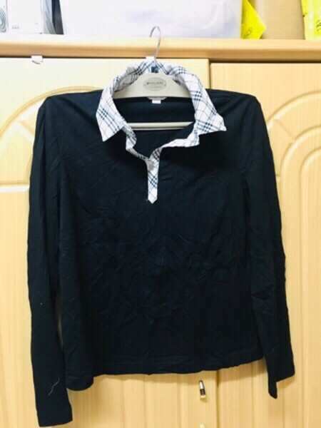 Used Blouse with Collar black ❤️ in Dubai, UAE