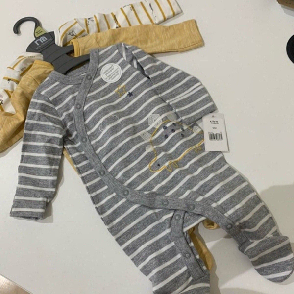 Used 3 x Mothercare 0-3 mo pajamas بيجامة طفل in Dubai, UAE